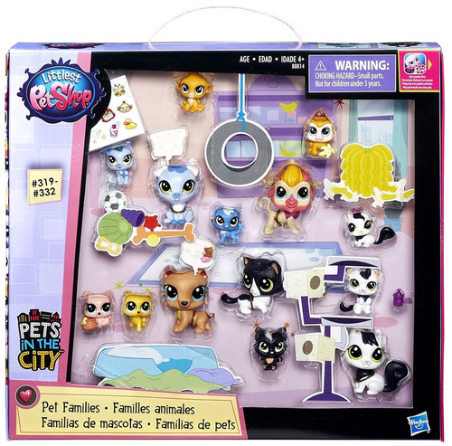 Littlest Pet Shop Pets in the City Pet Families Collection Mini Figure 14-Pack