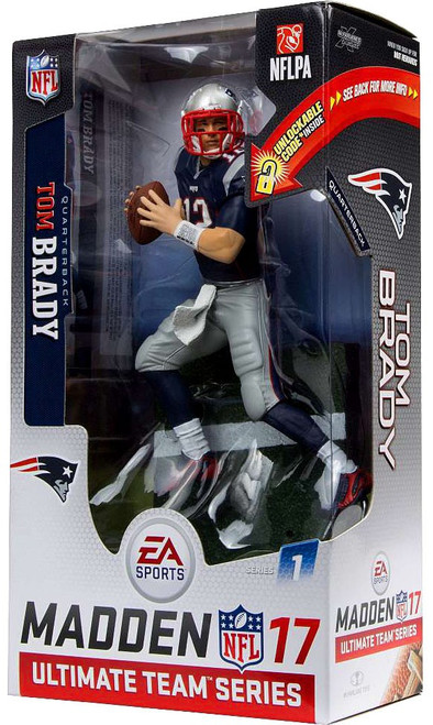 McFarlane Toys NFL New England Patriots EA Sports Madden 17 Ultimate Team Series 1 Tom Brady Exclusive Action Figure [Blue Jersey]