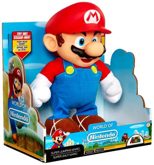 World of Nintendo Super Mario Super Jump Mario Deluxe Action Figure