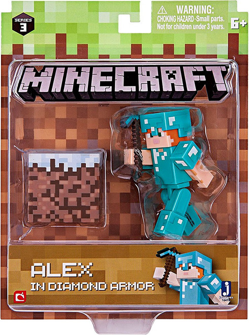 Minecraft Series 3 Alex in Diamond Armor Action Figure Set