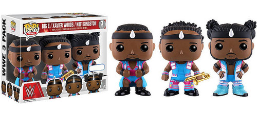 Funko WWE Wrestling POP! Sports Big E, Xavier Woods & Kofi Kingston Exclusive Vinyl Figure 3-Pack [New Day - Blue Outfits]