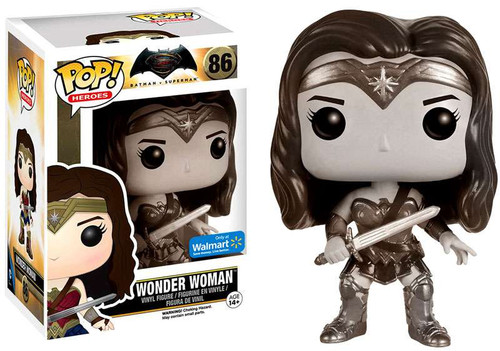 Funko DC Batman v Superman: Dawn of Justice POP! Movies Wonder Woman Vinyl Figure #86 [Dawn of Justice, Sepia]