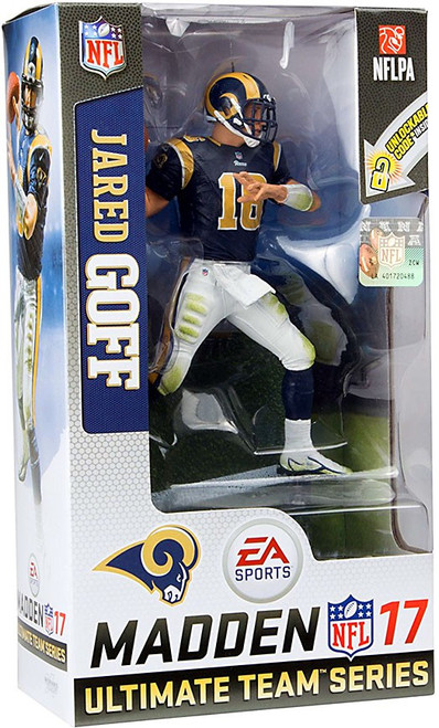McFarlane Toys NFL Los Angeles Rams EA Sports Madden 17 Ultimate Team Series 3 Jared Goff Action Figure