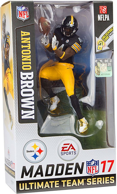 McFarlane Toys NFL Pittsburgh Steelers EA Sports Madden 17 Ultimate Team Series 3 Antonio Brown Action Figure
