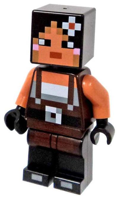 LEGO Minecraft Flower Miner Minifigure [Loose]