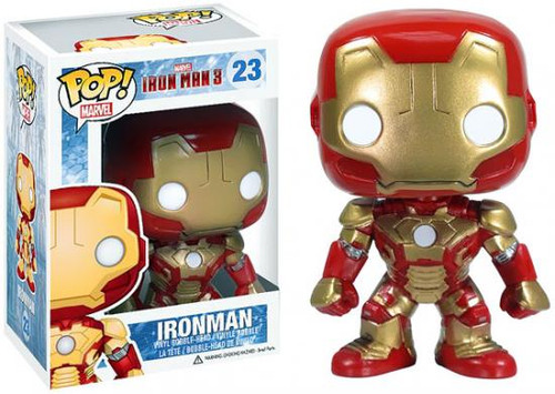 Funko Iron Man 3 POP! Marvel Iron Man Vinyl Bobble Head #23 [Mark 42]