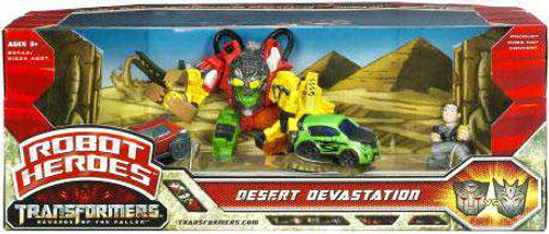 Transformers Revenge of the Fallen Robot Heroes Desert Devastation Figure Set [Damaged Package]