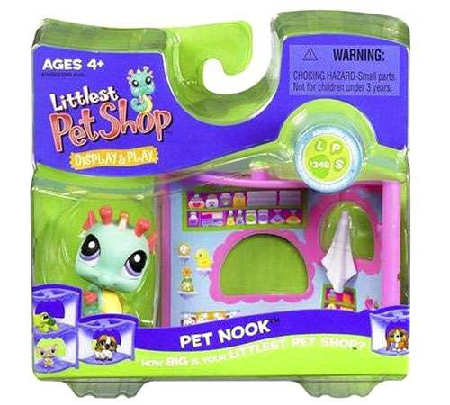 Littlest Pet Shop Pet Nook Series 1 Seahorse Figure [Damaged Package]