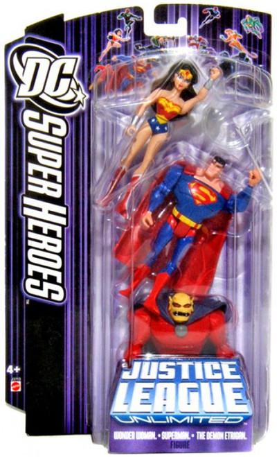 DC Justice League Super Heroes Wonder Woman, Superman & Demon Etrigan Action Figure 3-Pack