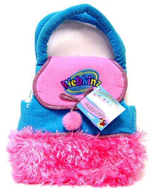Webkinz Blue Purse [Pink Fur]
