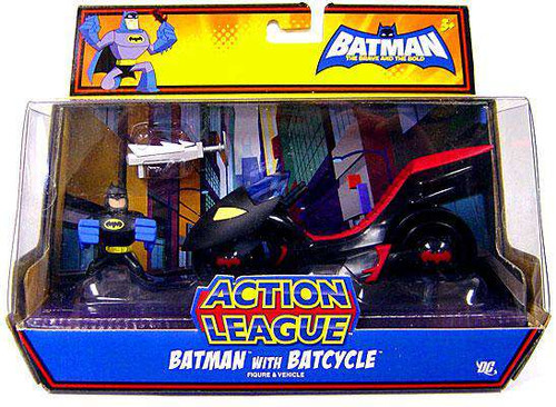 The Brave and the Bold Action League Batman with Batcycle Mini Figure Set