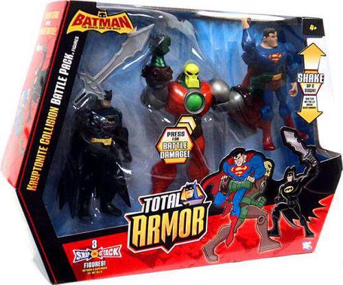 Batman Brave and the Bold Total Armor Kryptonite Collision Battle Pack Action Figure Set