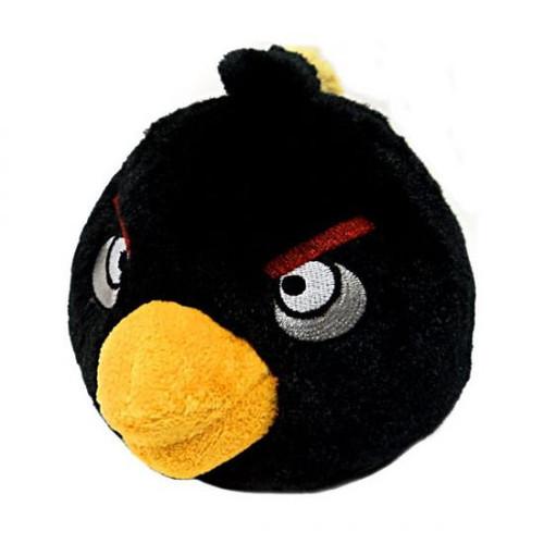 Angry Birds Black Bird 5-Inch Plush [With Sound]