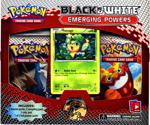 Pokemon Trading Card Game Black & White Emerging Powers Pansage Special Edition [3 Booster Packs, Promo Card & Coin!]