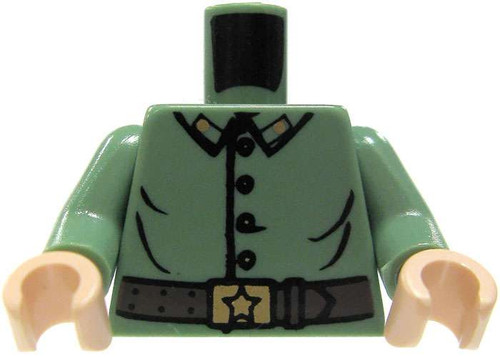 LEGO Star Wars Sand Green Uniform with Buttons & Belt Loose Torso [Loose]