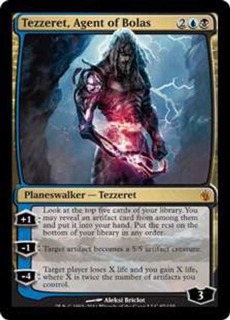 MtG Mirrodin Besieged Mythic Rare Foil Tezzeret, Agent of Bolas #97