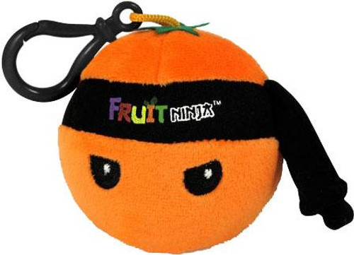 Fruit Ninja Orange Plush Clip On