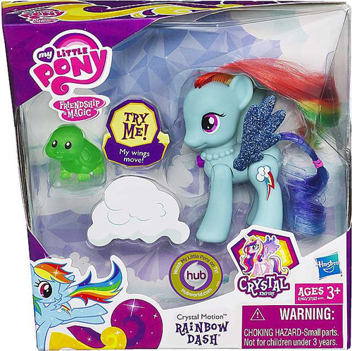 My Little Pony Friendship is Magic Crystal Empire Crystal Motion Rainbow Dash Figure
