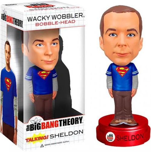 Funko The Big Bang Theory Wacky Wobbler Talking Sheldon Bobble Head [Superman Shirt]