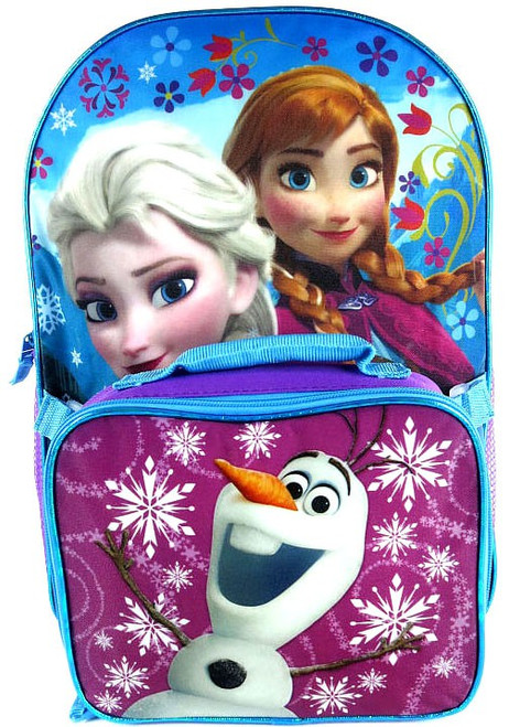 Disney Frozen Anna, Elsa & Olaf Backpack & Lunch Kit