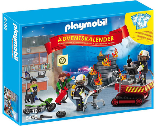 Playmobil Advent Calendar Fire Rescue Operation with Card Game Set #5495