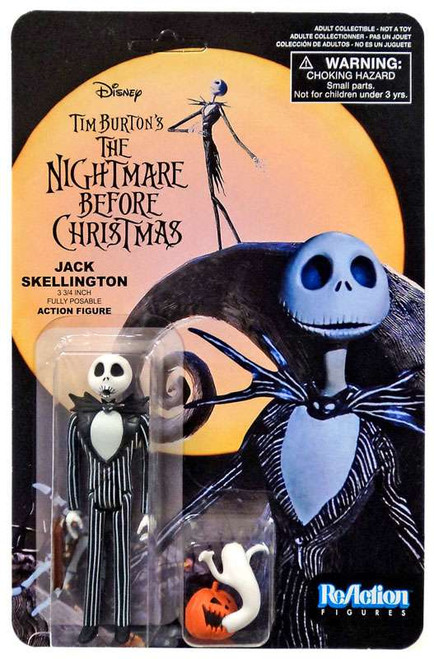 Funko Nightmare Before Christmas ReAction Jack Skellington Action Figure [Surprised, with Pumpkin & Ghost]