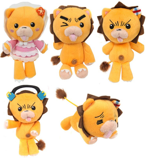 Bleach Kon Series Set of 5 Kon 7-Inch Plush Figures [Konpaku]