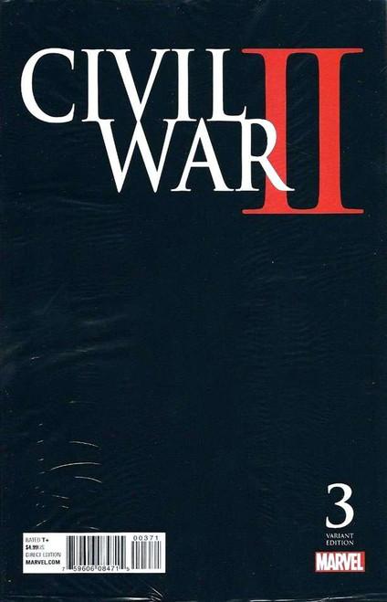 Marvel Civil War II #3 Variant Cover D Midnight Launch Comic Book [Polybagged / Joe Quesada]
