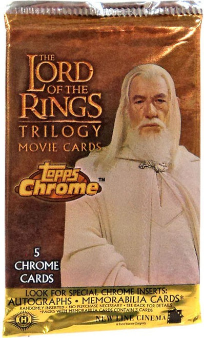The Lord of the Rings Chrome Trilogy Movie Trading Card Pack [5 Cards]