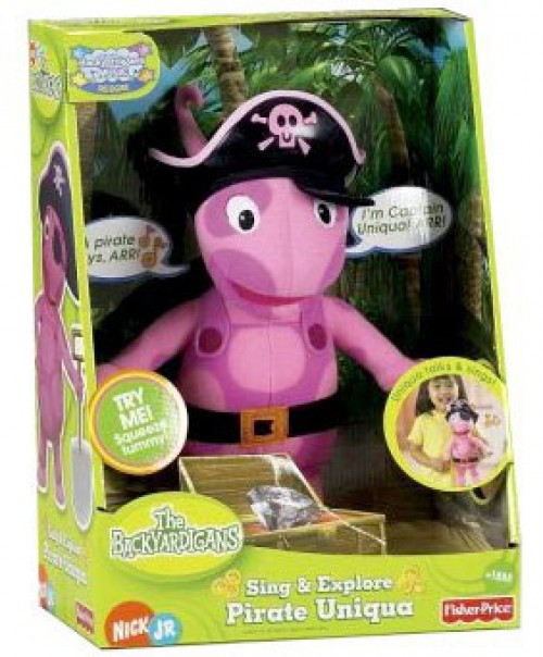 Fisher Price The Backyardigans Sing & Explore Pirate Uniqua 13-Inch Plush