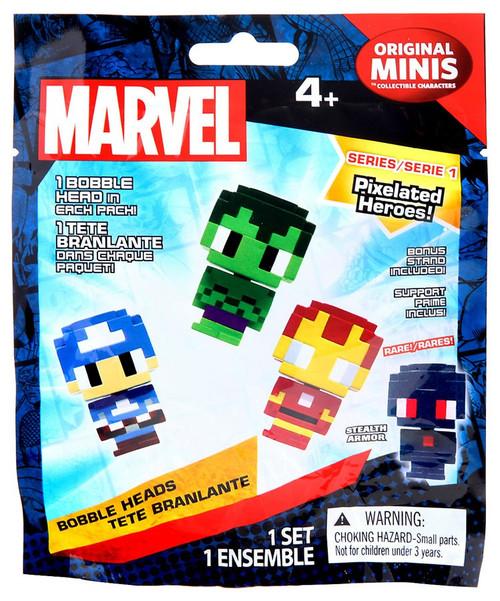 Marvel Original Minis Pixelated Heroes Series 1 Bobble Head Mystery Pack