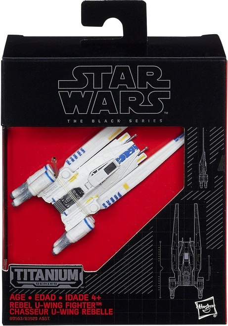 Star Wars Black Titanium Rebel U-Wing Fighter 2-Inch Diecast Vehicle