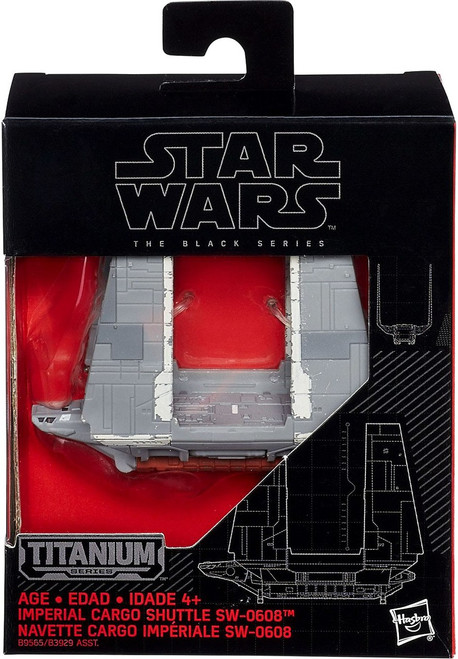 Star Wars Black Titanium Imperial Cargo Shuttle 2-Inch Diecast Vehicle