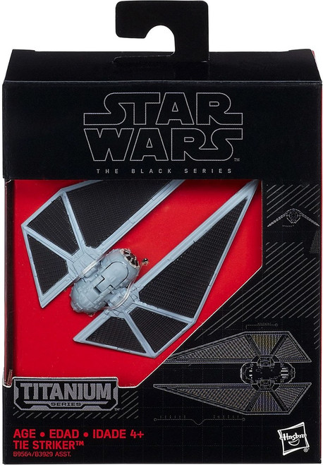 Star Wars Black Titanium Tie Striker 2-Inch Diecast Vehicle