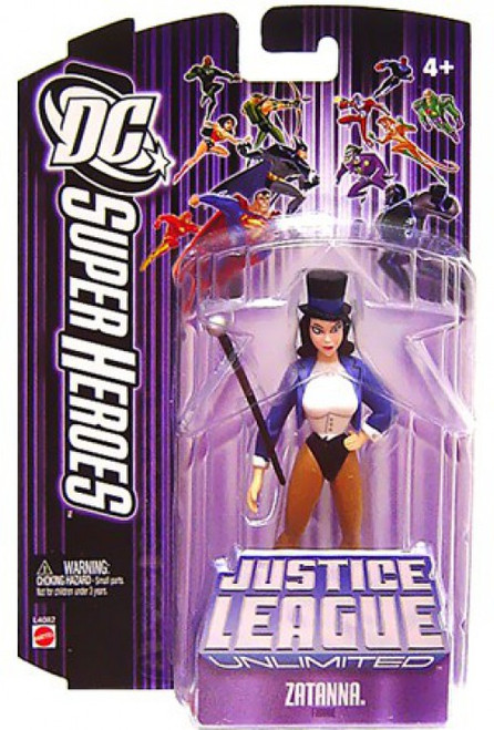 DC Justice League Unlimited Zatanna with Staff Action Figure [Purple Card]