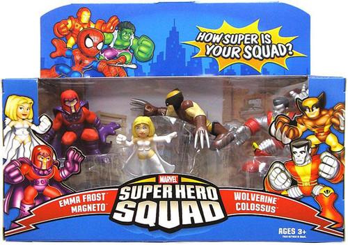 Marvel Superhero Squad Magneto, Emma Frost, Magneto, Wolverine & Colossus Mini Figure 5-Pack