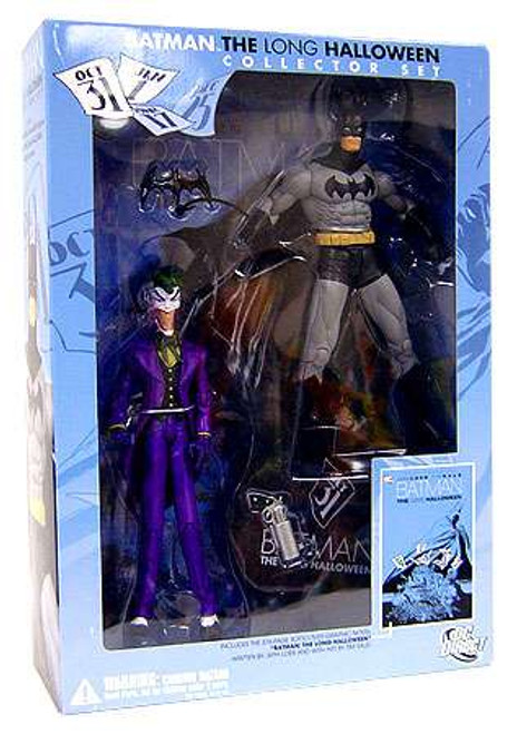 DC Batman & The Joker & Graphic Novel: The Long Halloween Action Figure Collection Pack