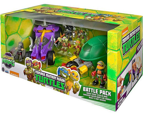 Teenage Mutant Ninja Turtles Nickelodeon Half Shell Heroes Battle Pack Action Figure Set