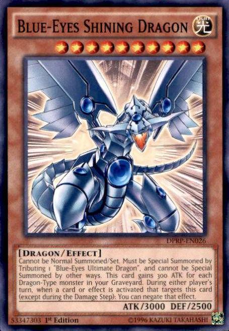YuGiOh Rivals of the Pharaoh Duelist Pack Common Blue-Eyes Shining Dragon DPRP-EN026