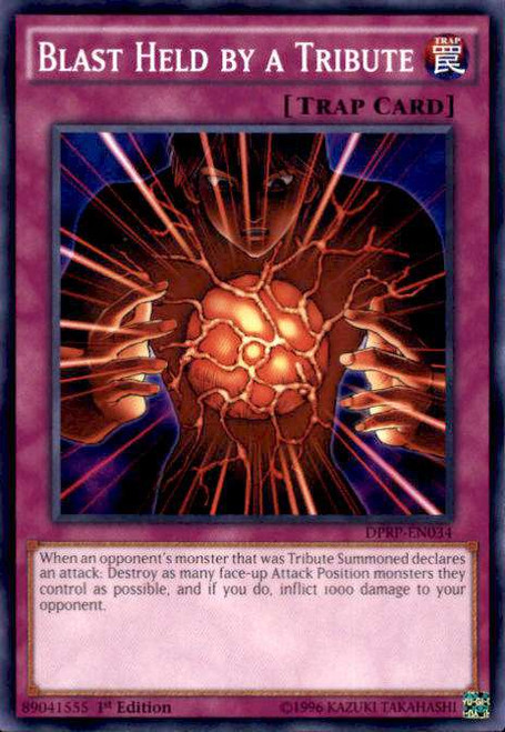 YuGiOh Rivals of the Pharaoh Duelist Pack Common Blast Held by a Tribute DPRP-EN034