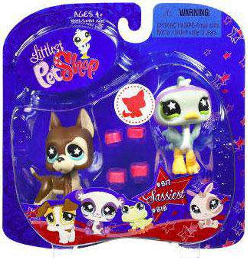 Littlest Pet Shop Series 2 Great Dane & Ostrich with Leg Warmers Figure