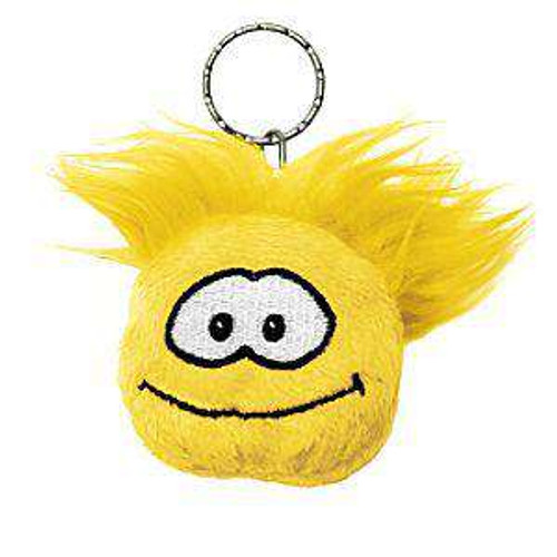 Club Penguin Yellow Puffle Plush Keychain