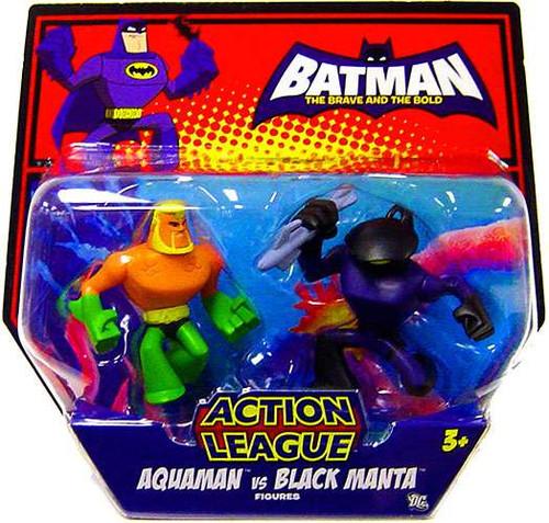 Batman The Brave and the Bold Action League Aquaman Vs. Black Manta Mini Figure 2-Pack