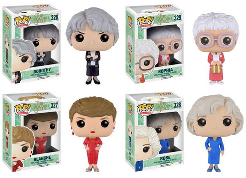 Funko Golden Girls POP! TV Sophia, Rose, Blanche & Dorothy Set of 4 Vinyl Figures