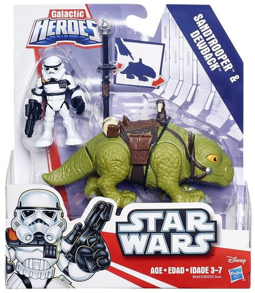 Star Wars Galactic Heroes Sandtrooper & Dewback Mini Figure 2-Pack