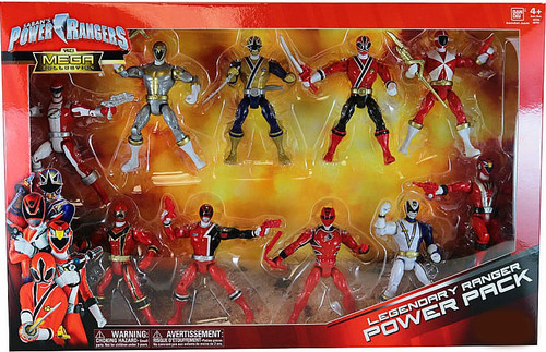 Power Rangers The Mega Collection Legendary Ranger Power Pack Exclusive Action Figure 10-Pack