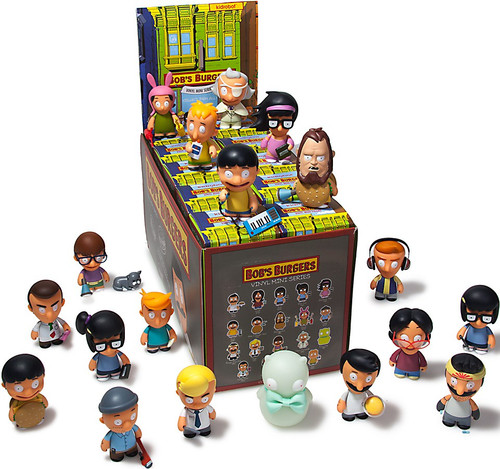 Vinyl Mini Figure Bob's Burgers Series 1 3-Inch Mystery Box [20 Packs]