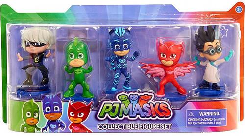 Disney Junior PJ Masks Catboy, Owlette, Gekko, Luna Girl & Romeo Figure 5-Pack