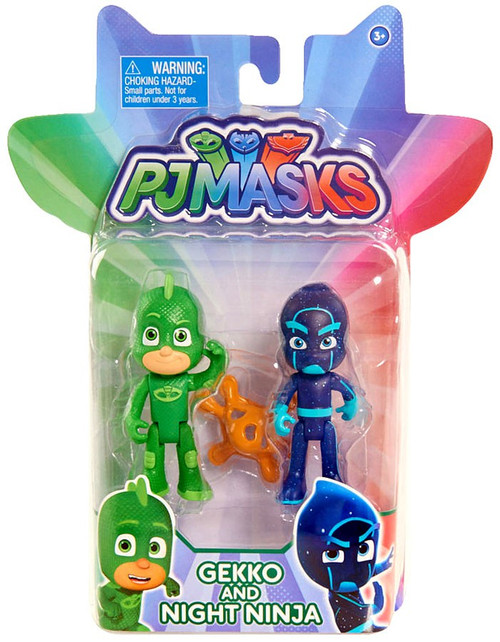 Disney Junior PJ Masks Gekko & Night Ninja Action Figure 2-Pack