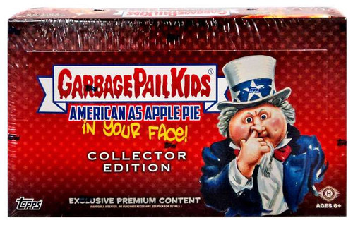 Garbage Pail Kids Topps 2016 American As Apple Pie (In Your Face!) Trading Card COLLECTOR Edition HOBBY Box [24 Packs]